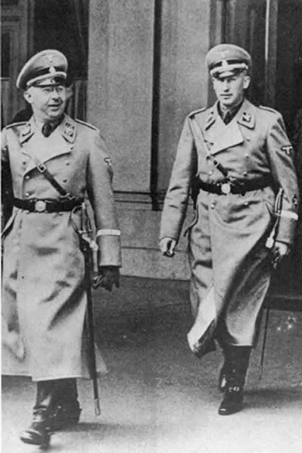 Heinrich Himmler and Reinhard Heydrich 27 September 1941 worldwartwo.filminspector.com