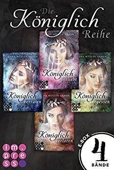 Neuerscheinungen im Juni 2018 #1 - Königlich: Alle vier Bände der romantisch-dystopischen Prinzessinen-Reihe in einer E-Box von Dana Müller-Braun