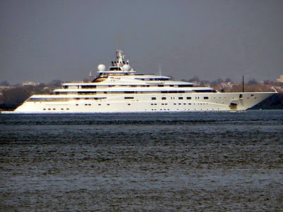 Self Absorbed Boomer Mega Yacht Topaz Arrives In New York