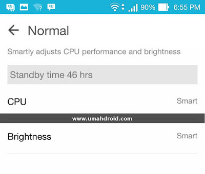 Normal Mode ASUS Zenfone