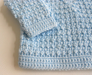 Peachtree Cottage Creations Tunisian Baby Sweater