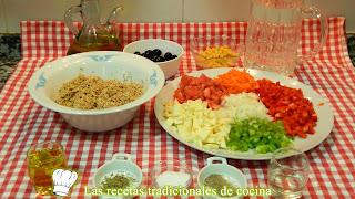 Receta fácil de ensalada de quinoa