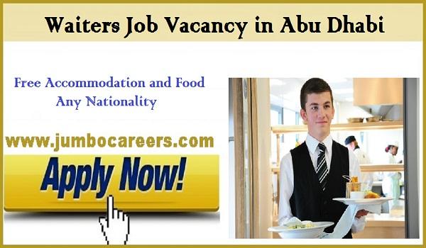 Abu Dhabi Waiters jobs for Indians, All new job vacancies in Abu Dhabi,