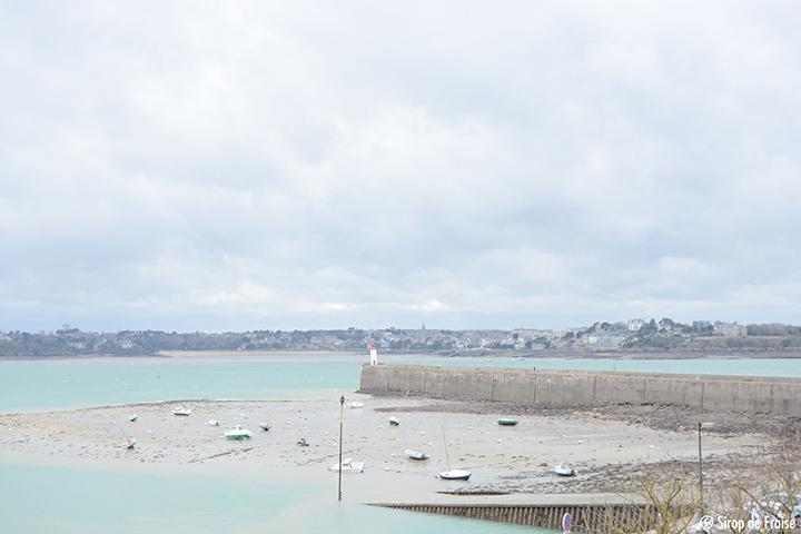 marée basse phare de Saint-Malo