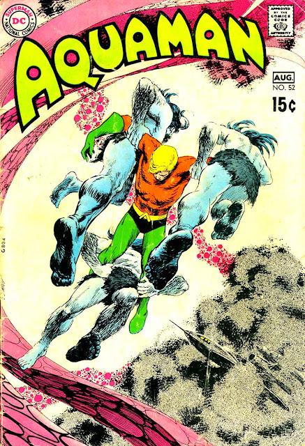 Aquaman v1 #52 dc 1970s bronze age comic book cover art by Nick Cardy