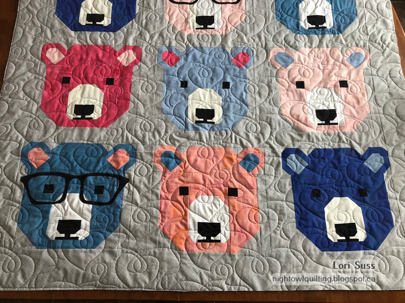 Night Owl Quilting Dye Works Bjorn Bear And Dogs In Sweaters