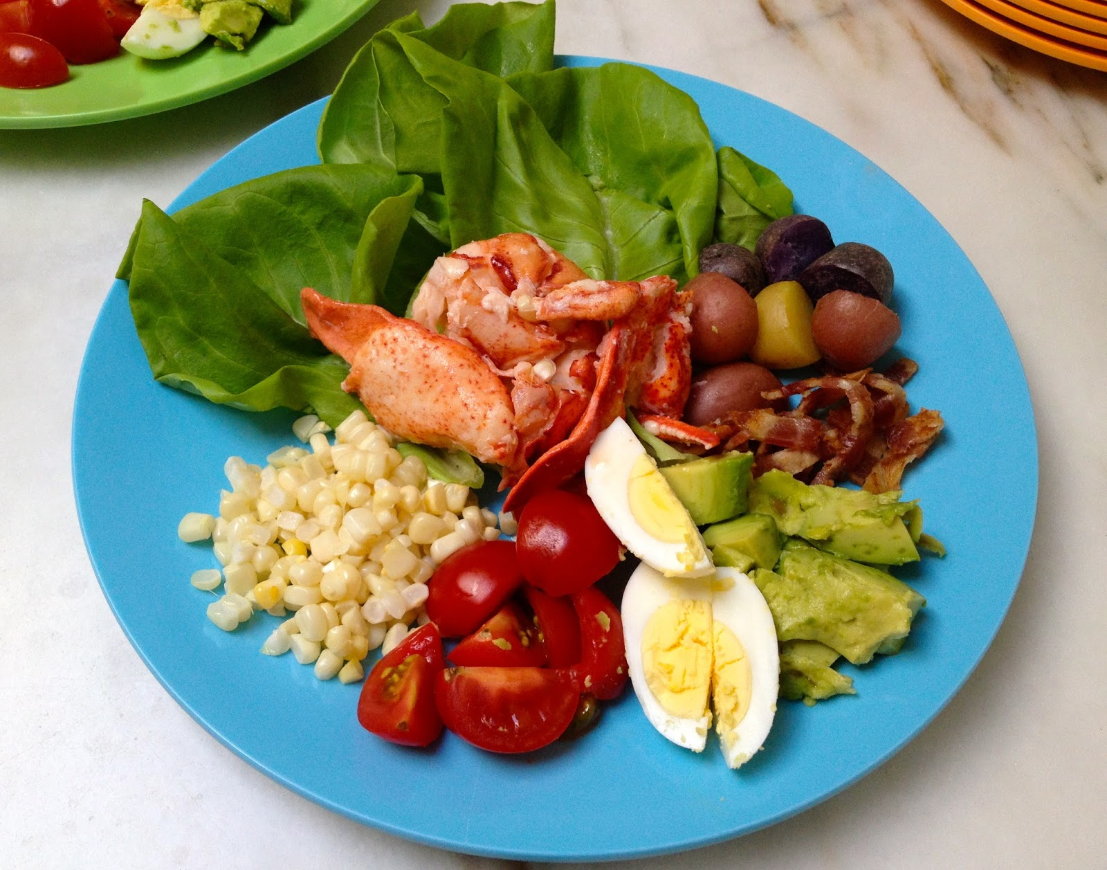Lobster Cobb Salad with Buttermilk Basil Dressing