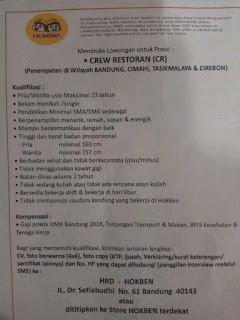 Lowongan Kerja Hokben Bandung 2019 Hoka Hoka Bento