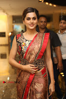 Tapsee Pannu Latest Stills in Red Silk Saree at Anando hma Pre Release Event .COM 0001.JPG