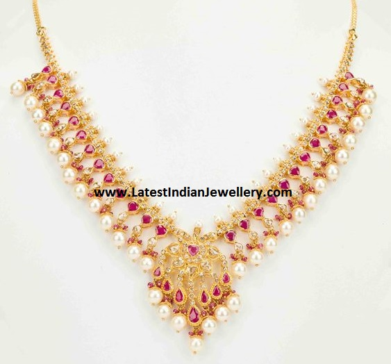 Uncuts Ruby Necklace