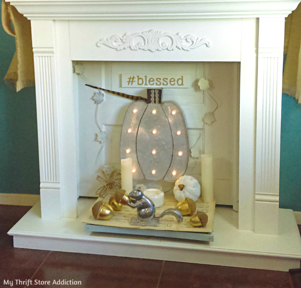 DIY reclaimed door fireplace upcycle