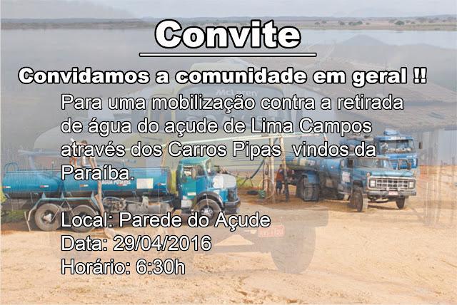 CONVITE, A POPULAÇÃO LIMACAMPENSE!