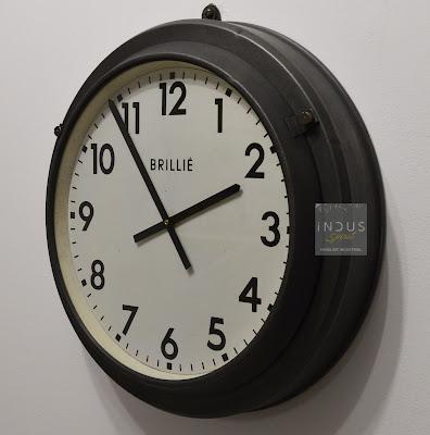 Horloge industrielle Brillié