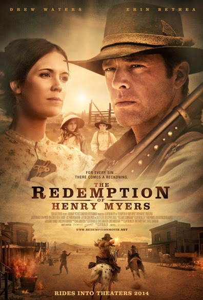 The Redemption of Henry Myers (2014). Erin Bethea and Drew Waters star in this Hallmark western TV film. All text is © Rissi JC