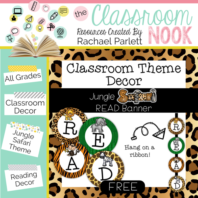 Create a jungle themed classroom with these printable decor essentials
