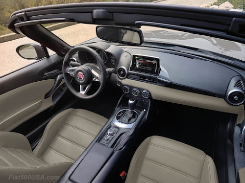 Fiat 124 Spider Red Top Edition Interior