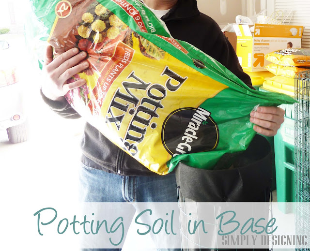 Potting Soil, DIY Flower Tower, Simply Designing, #digin #heartoutdoors #spring #sponsored