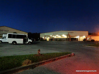 church and buses in Pensacola
