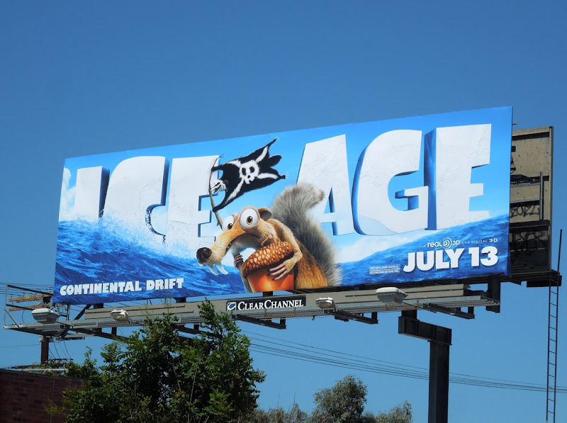Ice Age Continental Drift movie billboard