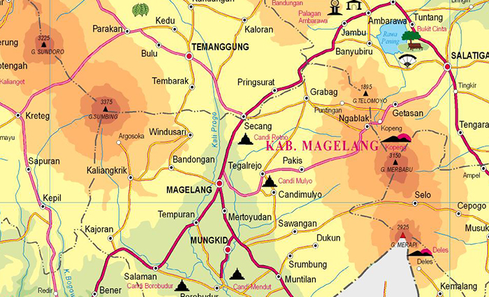Peta Magelang
