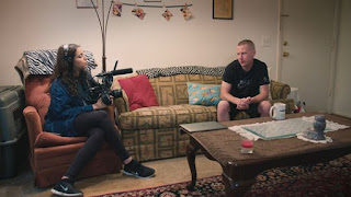 "Filmmaker Deeyah Khan interviewed Ken Parker for her documentary, ""White Right: Meeting the Enemy."" (Photo: Fuuse Films)"