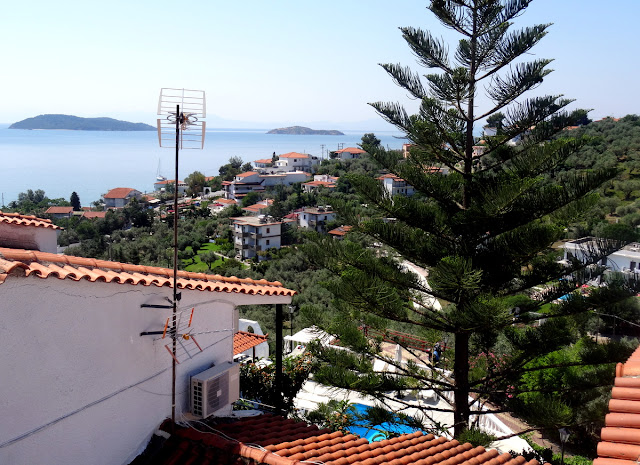 View from our apartment's balcony in Skiathos
