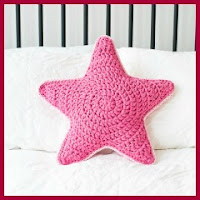 Cojín estrella a crochet