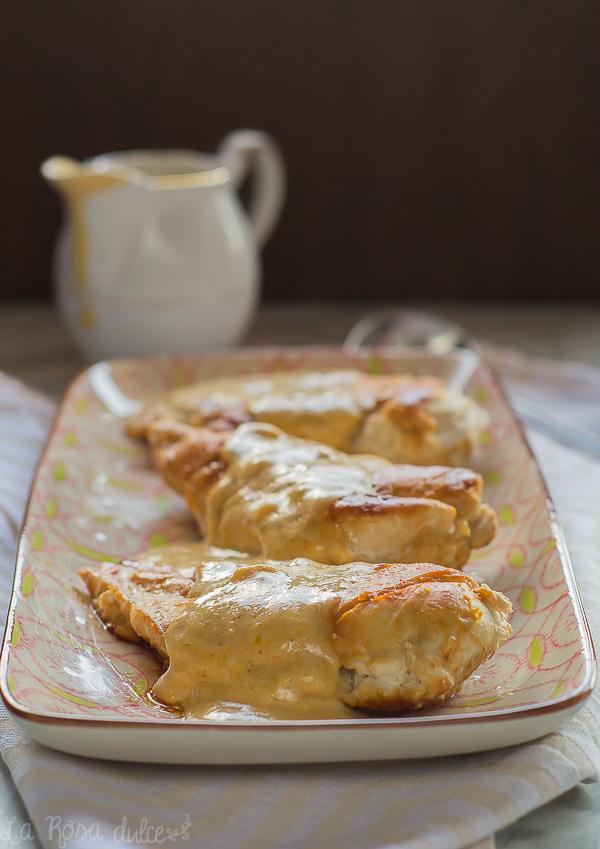 Pechugas de pollo con salsa de mostaza | receta exprés sin lactosa | la Rosa dulce