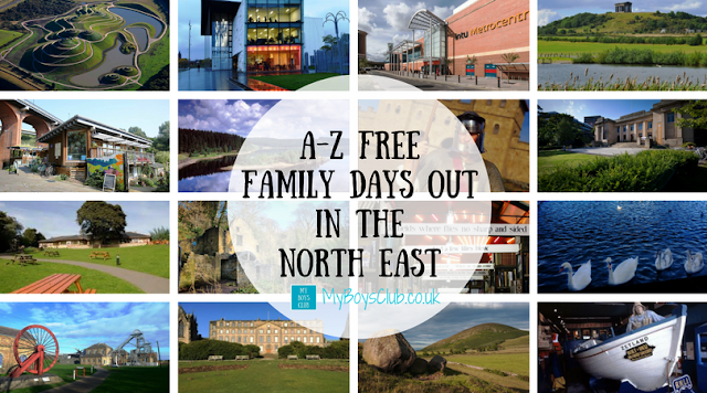 A-Z Free Family Days Out in the North East + Map