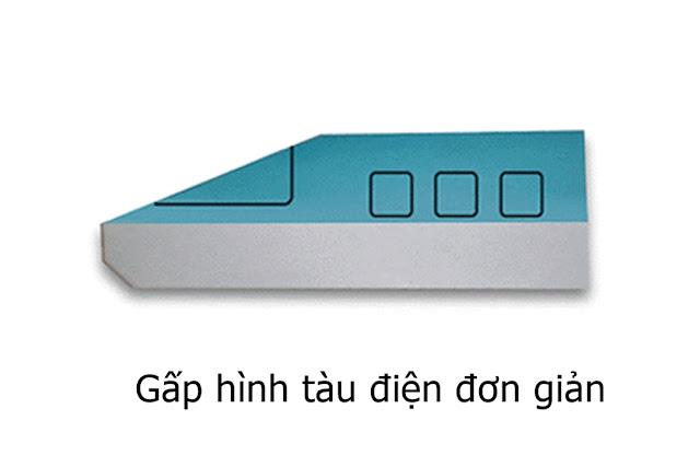 Hướng dẫn cách gấp xe, tàu điện ngầm bằng giấy đơn giản - Xếp hình Origami với Video clip