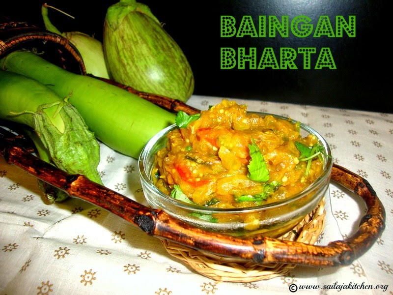 images for Baingan Bharta / Baingan Bartha / Baingan Bhurta / Baingan Ka Bharta Recipe / Roasted, Mashed & Spiced Eggplant Curry