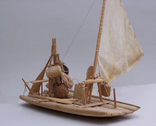 Model of a jangada