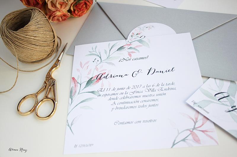 Acuarelas únicas para invitaciones de boda especiales