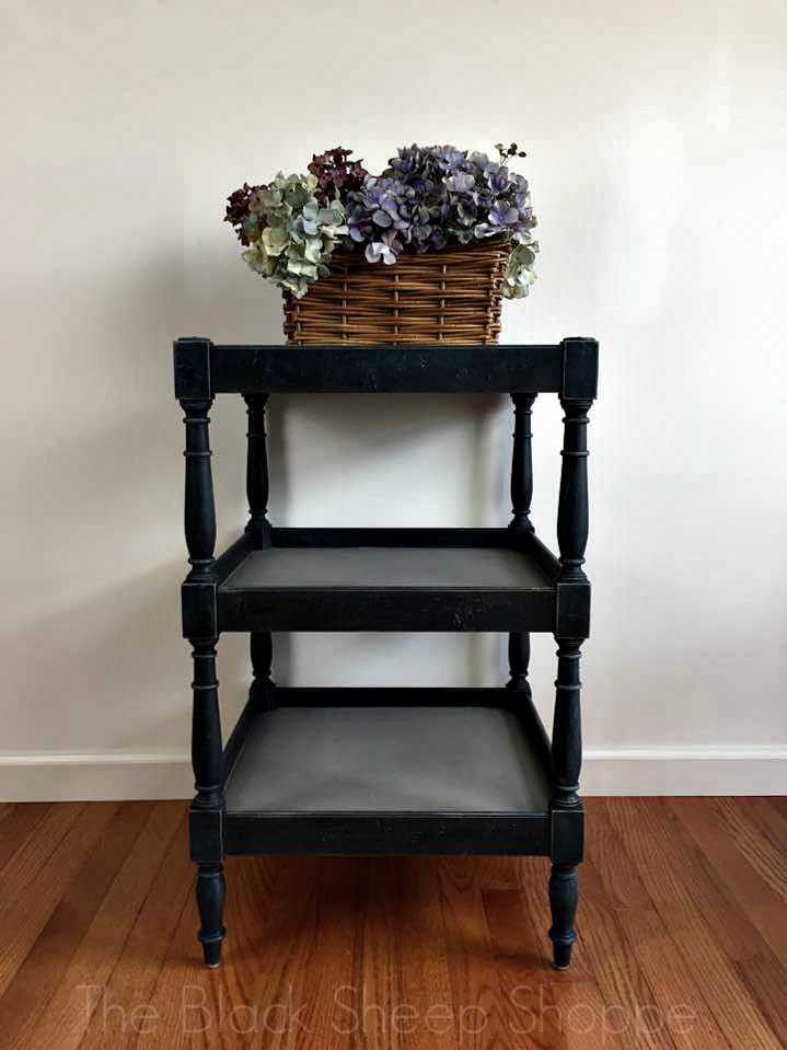 Three-tiered side table