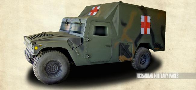 Санітарний автомобіль переднього краю на базі HMMWV від НВО «Практика»