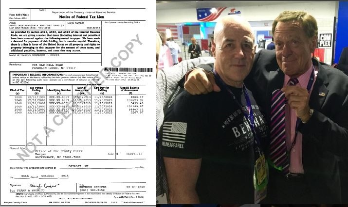 Felon Bernard Kerik can't vote owing arrears criminal restitution but crashes the RNC Convention to party...