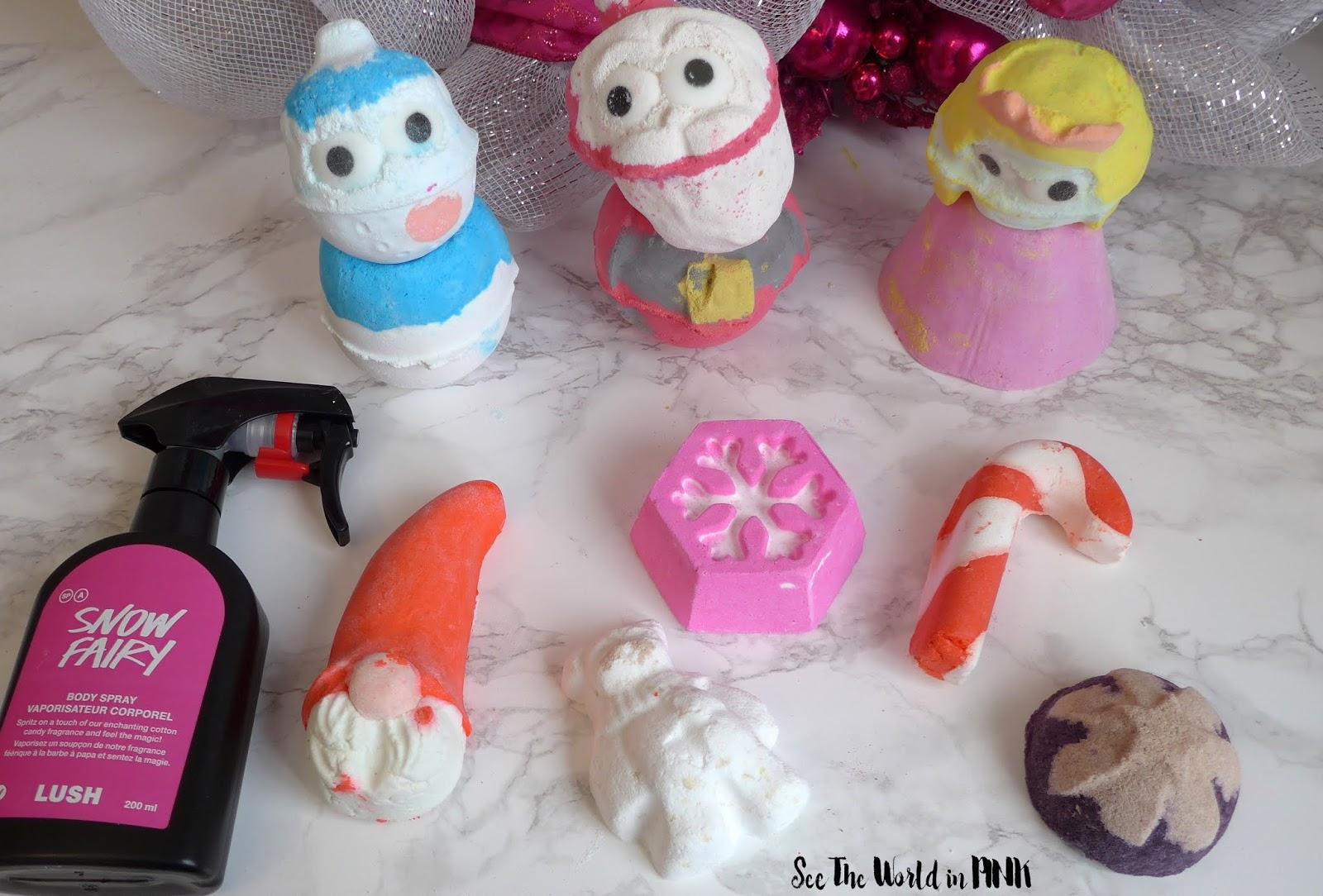 Christmas Bath Bombs Lush.Lush Christmas Products Bath Bombs Bubble Bars Scrubs