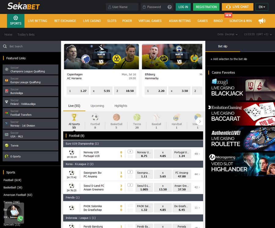 Sekabet Sportsbook