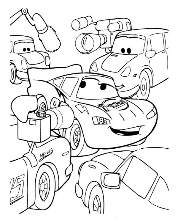 Tranh tô màu vương quốc xe hơi 4