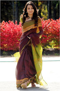 Trisha beautiful in saree stills