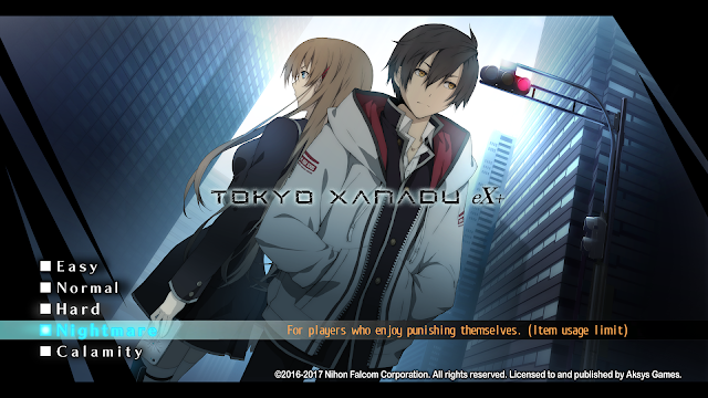 ScreenShot from game Tokyo Xanadu -eX Main Tittle