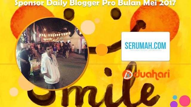 Terima Kasih Sponsor Daily Blogger Pro Bulan Mei 2017