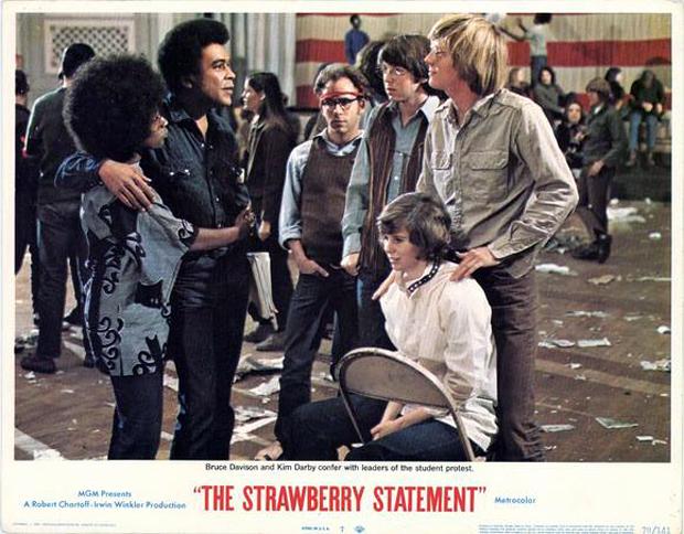 The Strawberry Statement 1970 movieloversreviews.filminspector.com lobby card