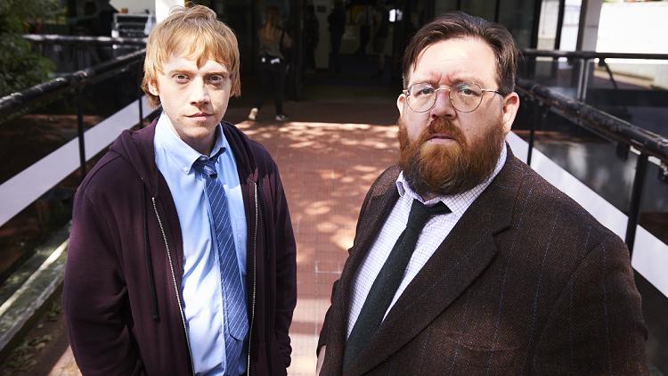 Ruppert Grint y Nick Frost en una imagen promocional de Sick Note
