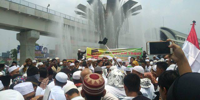 Aksi Umat Islam Sumsel Tolak Kedatangan Yaqut dan Islam Nusantara