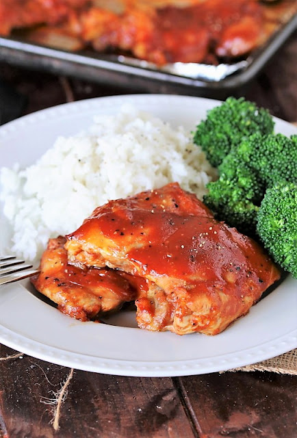 Chicken Thighs with Barbecue Sauce Image
