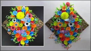 Paper Crafts Floral Wall Hanging