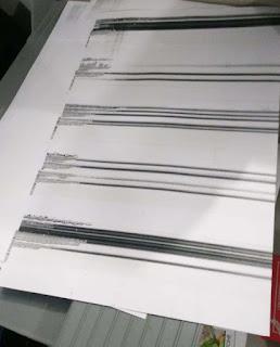 hasil fotocopy bergaris hitam