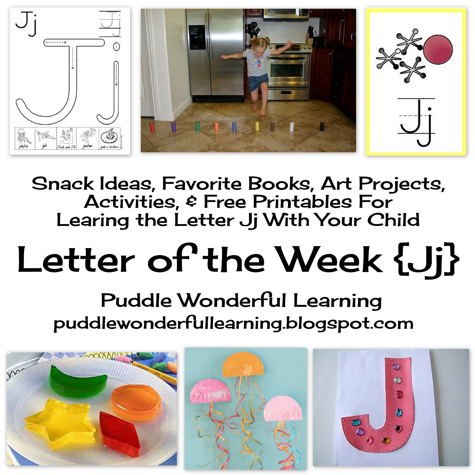 Puddle Wonderful Learning Preschool Activities Letter Of The Week Jj