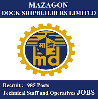 Mazagon Dock Admit Card Download